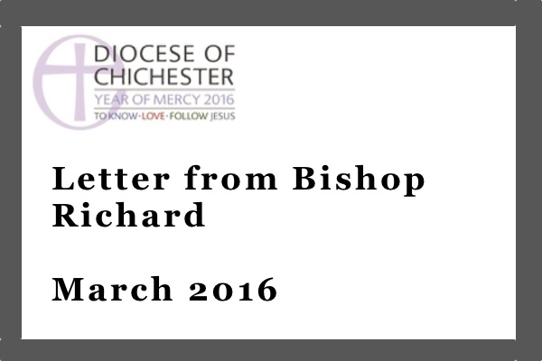 Bishop Richard's March letter