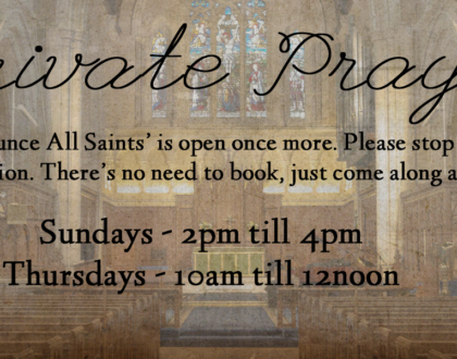 Church Open for Private Prayer